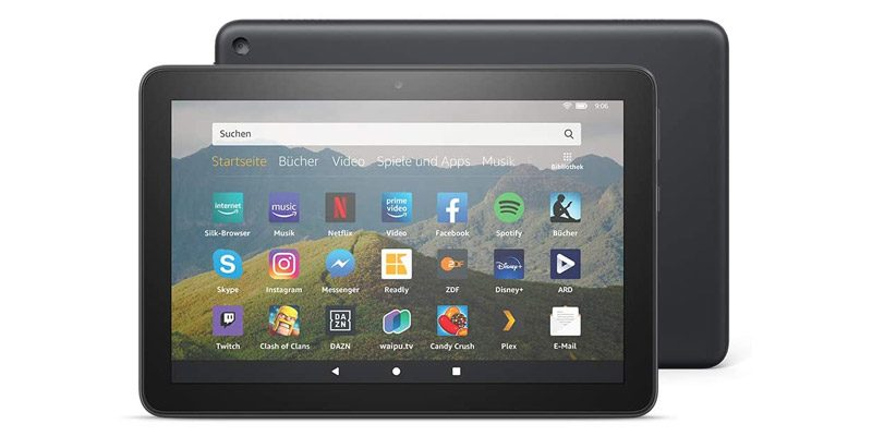 Amazon Kindle Fire HD 8 Tablet 32 GB (10. Generation – 2020) für nur 53,60€