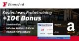 Fitness First Bonus-Deal: Kostenloses Probetraining + 10€ BestChoice-/Amazon-Gutschein