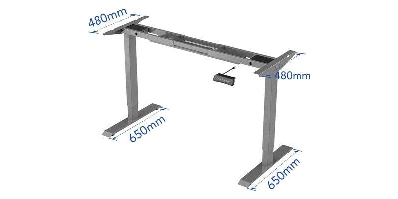 Höhenverstellbarer Flexispot Schreibtisch ED2S ohne Tischplatte für 279,99€