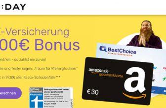 FRIDAY KFZ Versicherung + bis zu 100€ BestChoice-/Amazon Gutschein Prämie (monatlich kündbar)