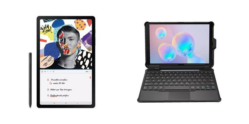 Samsung Galaxy Tab S6 Lite Wi-Fi 64 GB + Book Cover Keyboard für 244€