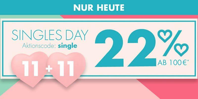 Galeria Karstadt Kaufhof Singles Day – 22% Gutschein auf fast alles ab 100€