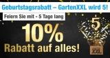 10% GartenXXL Gutschein auf alles + bis zu 70% im Sale
