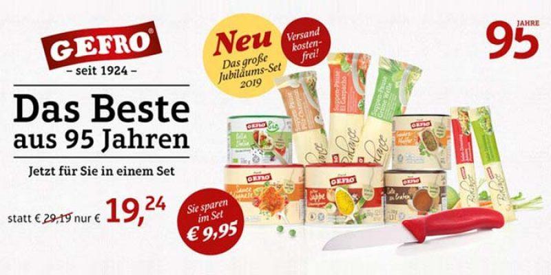 Gefro Jubiläums-Set 2019 (Suppen, Gewürze, Dressing, etc.) für 19,24€