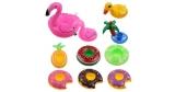 Schwimmender Getränkehalter für den Pool (Flamingo, Palme, Donut, etc.) für 1€