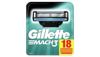 18x Gillette Mach3 Rasierklingen für 21,18€ (1,18€ pro Stück)