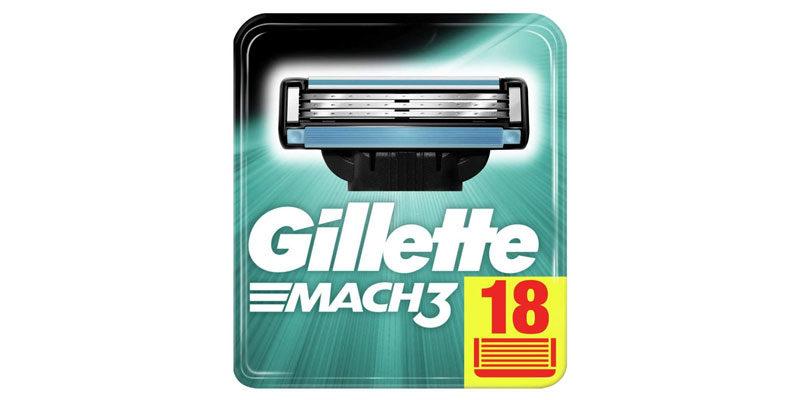 18x Gillette Mach3 Rasierklingen für 21,87€ (1,22€ pro Stück)