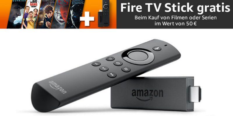 Gratis Amazon Fire TV Stick beim Kauf von Filmen & Serien für mind. 50€