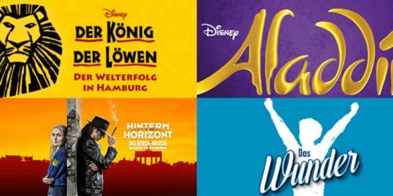 Günstige Musicalreisen nach Hamburg, Stuttgart, Bochum, Oberhausen oder Berlin inkl. Hotel ab 198€ (Preis für 2 Personen)!