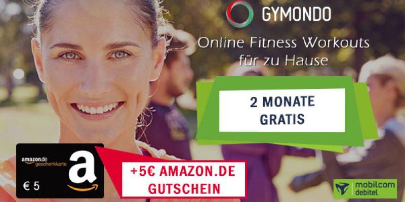 Gymondo 2 Monate kostenlos testen + 5€ Amazon Gutschein