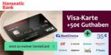 Hanseatic Genialcard Kreditkarte + 50€ Startguthaben + 35€ BestChoice-/ Amazon Gutschein
