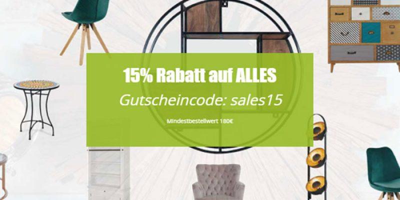 15% Homy Gutschein auf alles – Möbel, Lampen, Deko & mehr