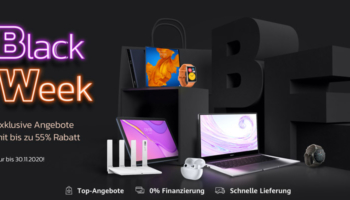 Huawei Black Week – bis zu 55% Rabatt auf ausgewählte Ware, z.B. Huawei Watch Fit für 79€