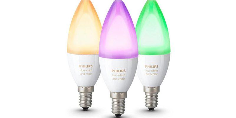 3x Philips Hue E14 White and Color Ambiance Birnen für 119€
