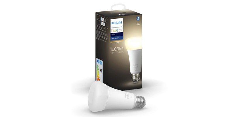 Philips Hue White E27 Lampe in der neuen 2020 Edition (1600 Lumen) für 19,49€