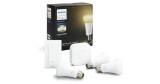 Philips Hue White Ambiance E27 Starter Set: 3x Glühbirnen + Bridge + Dimmschalter für 79€