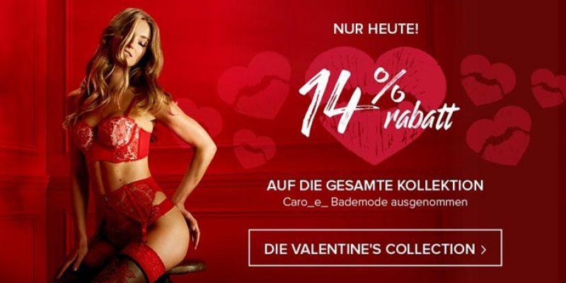 Hunkemöller Valentinstags-Aktion: 14% Rabatt auf alles (Dessous, BHs, etc.)