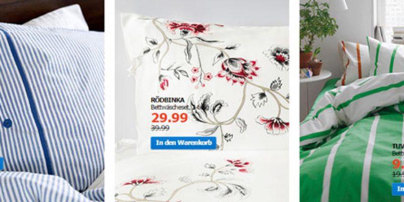 Bis zu 50% Rabatt auf IKEA Bettwäsche + 5€ Gutschein!