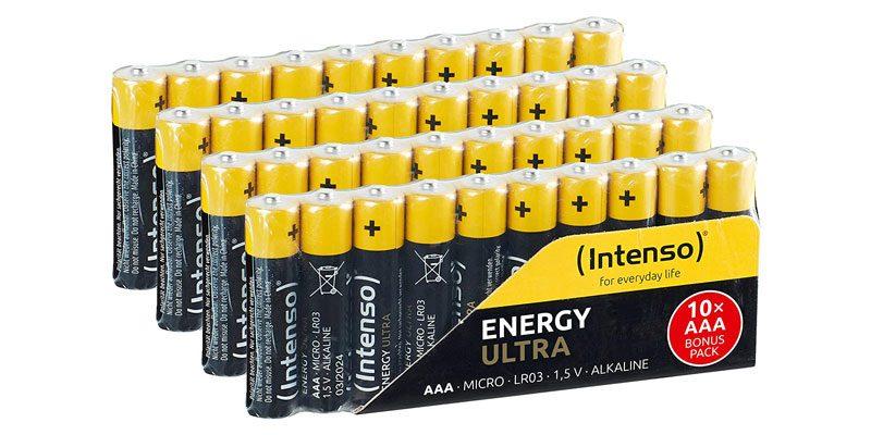 40x Intenso Energy Ultra-Batterien (AAA) für 6,83€ oder AA für 7,55€