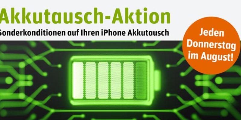 iPhone Akkutausch bei Gravis für 28,99€ (mit Home Button) oder für 48,99€ (iPhone X, Xs, etc.)