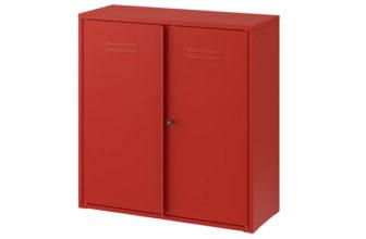 IKEA: Ivar Stahlschrank (rot) mit verschließbaren Türen für 59,89€