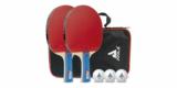 JOOLA Tischtennis-Set Duo (2 Tischtennisschläger, 3 Tischtennisbälle + Tasche) für 13,06€