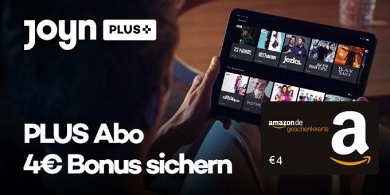 2 Monate Joyn PLUS+ für 3,99€ & 4€ Amazon Gutschein geschenkt