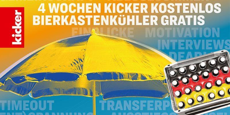 8 Ausgaben Kicker Sportmagazin kostenlos (ohne Kündigung)
