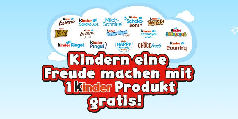 Weltkindertag: Gratis Kinder Schokolade am 19.09.2020