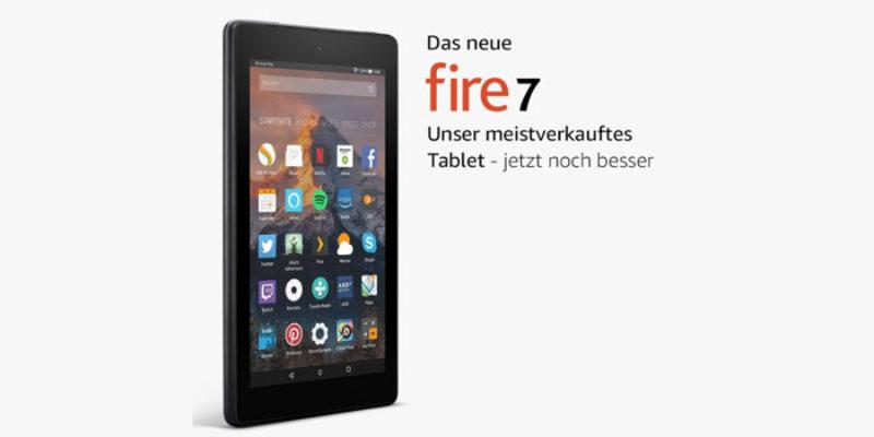 2x Amazon Kindle Fire Tablet 2017 (7 Zoll) mit 8 GB für 60€