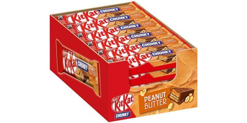 24x KitKat Chunky Peanut Butter (Schokoriegel mit Erdnussbutter) für 9,49€