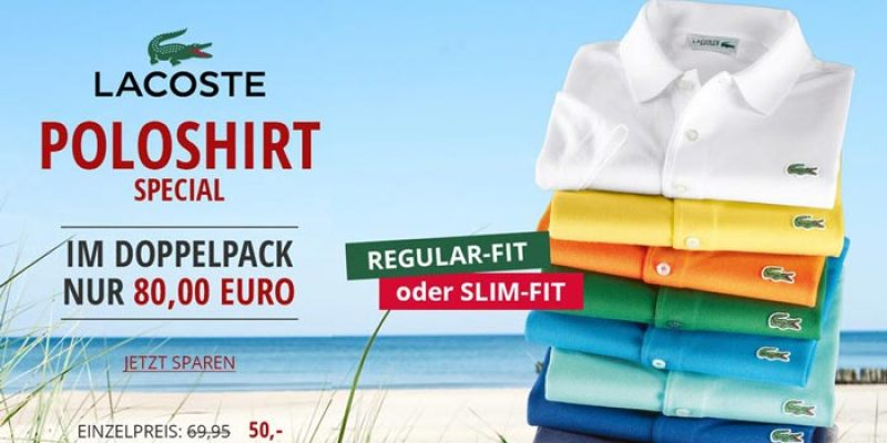 3x Lacoste Waffelpique Poloshirts (Regular Fit) für 110€