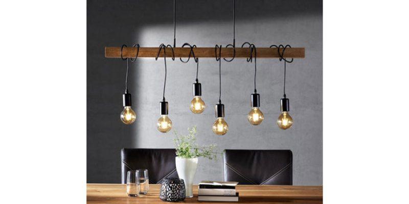 Landscape Pendelleuchte (Kabel um Holzbalken gewickelt für Edison-Glühbirne) für 92,95€
