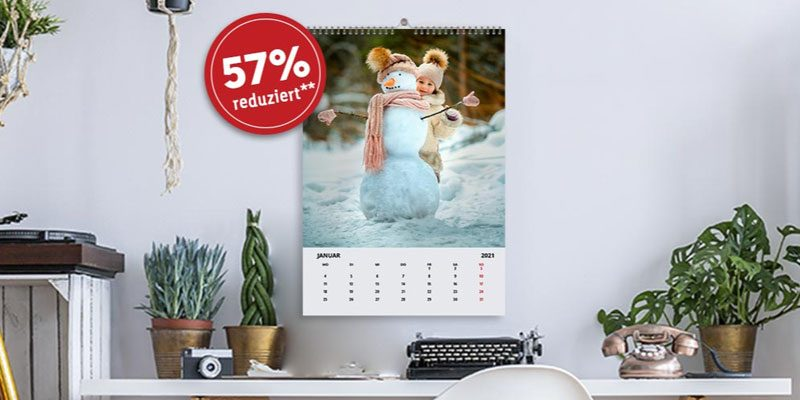 LIDL Fotokalender Gutschein – A4 Kalender in Echtfoto für 5,66€ + 4,99€ Versand