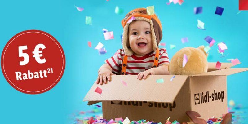 LIDL Aktion zum Tag des Babys: 5€ Gutschein ab 10€ Bestellwert