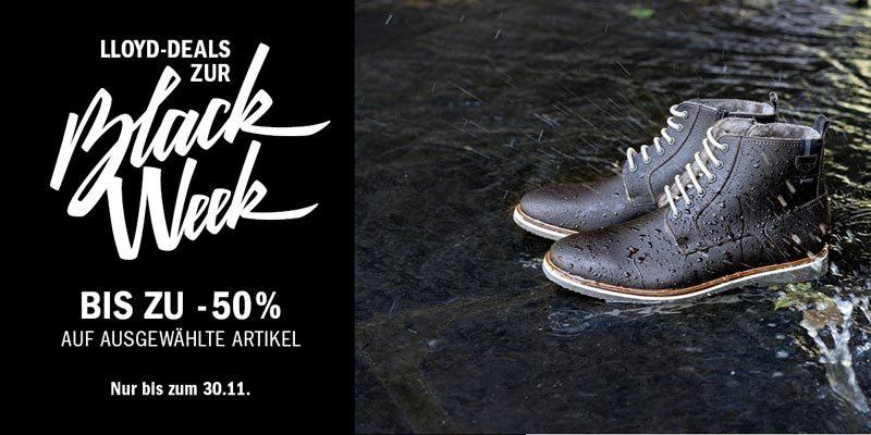 LLOYD Black Week – bis zu 50% auf Schuhe, Lederjacken & Accessoires