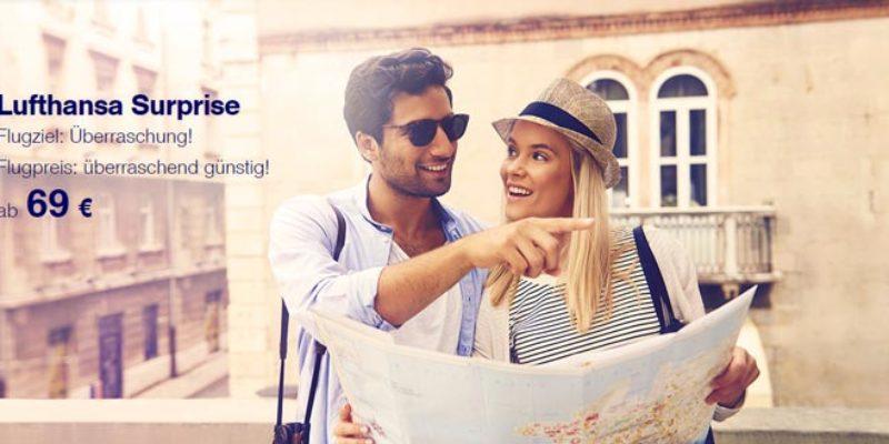 Lufthansa Surprise Booking (Flugziel = Überraschung) ab 69€
