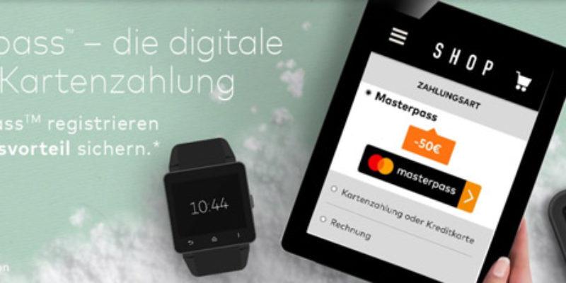 [Knaller] 50€ Masterpass Gutschein ab 100€ MBW für Notebooksbilliger, Alternate, Rakuten oder Technikdirekt