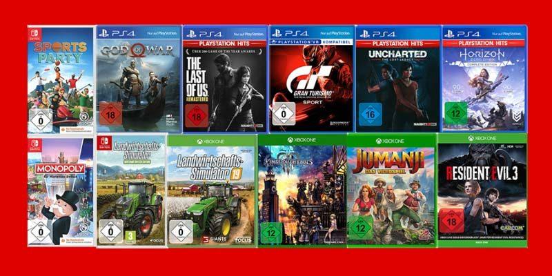 Media Markt Nimm 3 Zahl 2 Aktion: Games für PS4, Xbox & Nintendo Switch