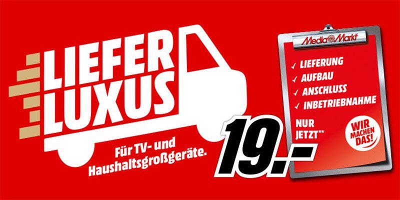 Media Markt Lieferluxus für 19€: Lieferung, Aufbau, Anschluss & Inbetriebnahme für Haushaltsgroßgeräte