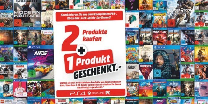 Media Markt Nimm 3 Zahl 2 Aktion: Games für PS4, Xbox & PC