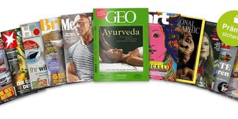 Meinabo Frühjahrskampagne 2020: Zeitschriften mit Gutschein-Prämien (Men's Health, GEO, Eltern, etc.)