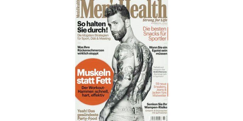 2 Ausgaben Mens Health für 12,60€ + 10€ Verrechnungsscheck