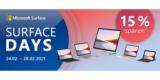 Microsoft Surface Days: 15% Rabatt auf Microsoft Surface Artikel, z.B. Surface Go 2 für 363,80€