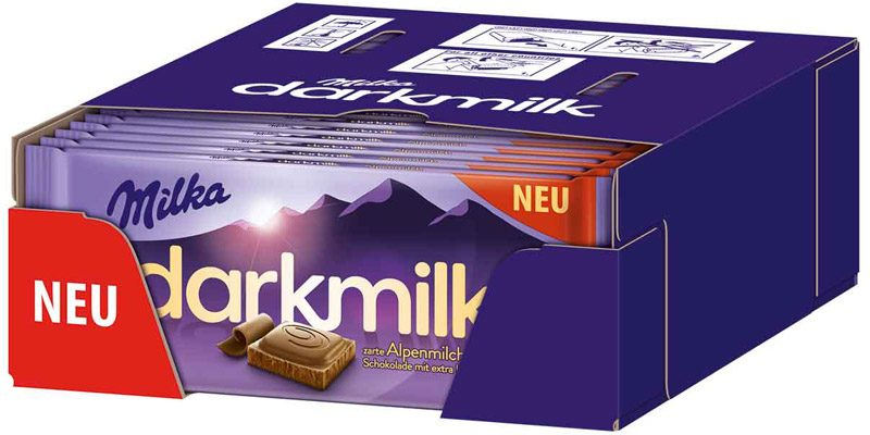 25x Tafeln Milka Darkmilk Schokolade (á 85g) für 14,98€