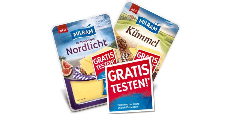 Milram Scheibenkäse Geld-Zurück-Aktion: Neue Sorten gratis testen