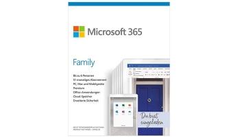 Microsoft Office 365 Family für 49,99€ – 6 Nutzer (mehrere Geräte) & 1 Jahr