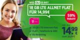 Mobilcom-Debitel Telekom Green LTE 18 GB Tarif ohne Smartphone für 14,99€/Monat