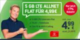 Mobilcom-Debitel Green LTE Sim-Only Tarif mit 5 GB & Allnet-Flatrate für 4,99€/Monat – Vodafone Netz