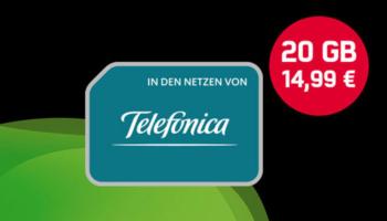 mobilcom-debitel Telefonica Allnet 20 GB Tarif + Allnet-Flat für 14,99€/Monat